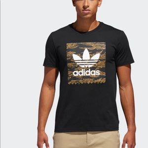 Adidas Trefoil Camouflage BB Tee T Shirt Black S